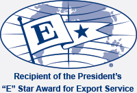 2012 Recipient of the President's 'E' Award for Export Service